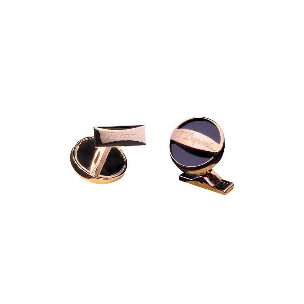 4e6c2fadc33 S.T. Dupont Cufflinks WithLacquer And Rose Gold Plated From D Coll